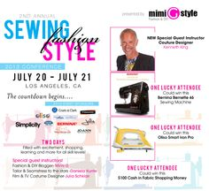 TICKET GIVEAWAY!! Sewing, Fashion #mimigstyle #SFS2013
