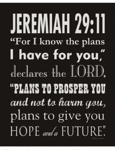 God has plans for each one of us, He wants us to choose to live for Him, to live by His Commandments, and spend time talking with Him!!!