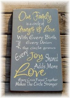 Our family is a circle of strength and love by pattisprimitives, $32.00