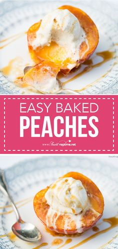 Baked peaches with brown sugar, butter and cinnamon. Tastes like a homemade peach pie - without all the work and calories!
