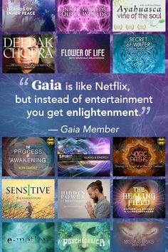 Join the Gaia community today to start streaming thousands of consciousness expanding, yoga and transformational videos to all of your favorite devices. Thing 1, Spiritual Awakening, Yoga Meditation, Gaia, Self Improvement, Self Help, Reiki, Good To Know, Namaste