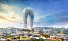 Tashkent City architectural projects, please visit our page to view project details and photos. Urban Park, Conceptual Design, Convention Centre, Burj Khalifa, Skyscraper, National Parks, Landscape, Architecture, City