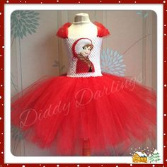Anna Christmas Tutu Dress.   Frozen Tutu Dress. Anna Tutu Dress. Beautiful & lovingly handmade.   Price varies on size, starting from £25.  Please message us for more info.   Find us on Facebook www.facebook.com/DiddyDarlings1 or our website www.diddydarlings.co.uk
