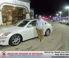 #HappyAnniversary to Jarvis R Cummings on your 2013 #Hyundai #Genesis from Brandan Myers  at Absolute Hyundai!