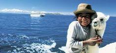 Lago Titicaca - Niña y la Llama