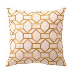 Helix Linen Pillow in Mustard