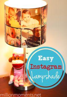 Easy Instagram Lampshade tutorial.  Great for a nursery, as a gift for your college bound kid or a BFF!  #WalgreensApp #shop