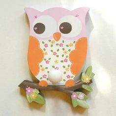 Love And Nature Owl Wall Peg or Decor Piece Without Peg (Circo)