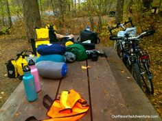 packing for bike tour