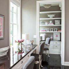 Home Office White Glass Table Grey Design, Pictures, Remodel, Decor and Ideas - page 2