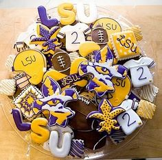 LSU Cookies 2- Kookie Kreations by Kim