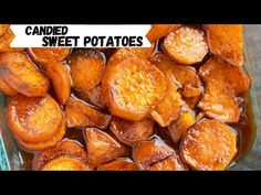These Southern Candied Sweet Potatoes are covered in delicious syrupy goodness and will melt in your mouth with each and every bite. It's the perfect side dish for every table. Sweet Potato Dishes, Canning Sweet Potatoes, Sweet Potato Slices, Sweet Potato Recipes, Thanksgiving Side Dishes, Thanksgiving Recipes, Thanksgiving 2020, Southern Sweet Potato Recipe, Buttered Cabbage