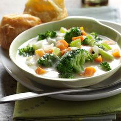 Best Broccoli Soup Recipe from Taste of Home :: shared by Carolyn Weinberg of Custer, Montana :: http://pinterest.com/taste_of_home/