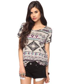 Forever 21 Tribal Knit Top. (Loving this trend!)