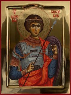 Byzantine Icons, Saint George, Orthodox Icons, Saints, Spirituality, Christian, Baseball Cards, Cyprus, Greek