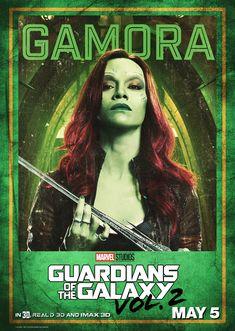 Gamora (poster de Guardianes de la Galaxia Vol. 2)