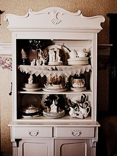 Miss Gracie's house and a reminder of different ways to do a china cabinet