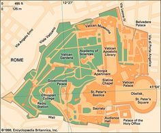 Map of the Vatican City
