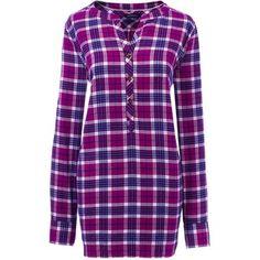 Lands' End Women's Petite Long Sleeve Flannel Tunic Top
