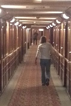 The Sanger Herald Online > Paranormal travelers on the Queen Mary. The man down the hall was not there when the picture was taken.