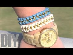 Pulseras fáciles con cadenas. Diy Jewelry Tutorials, Bracelet Watch, Diy Bracelet, Jewelry Bracelets, Necklaces, Jewelry Making, Handmade, Li Lo, Patry Jordan