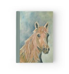 Hardcover Journal, stationery,school,supplies,cool,unique,fancy,trendy,awesome,beautiful,design,unusual,modern,artistic,for sale,items,products,office,organisation, brown,blue,horse,equine,portrait,animal,wildlife,redbubble
