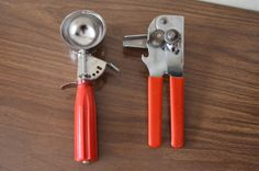 vintage RED kitchen utensils. ice cream by thevintageholicfrog, $21.00