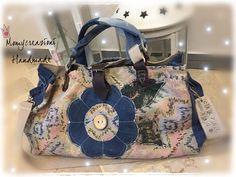 Carpet  bag Mary Poppins bag jeans  gobelin pelle