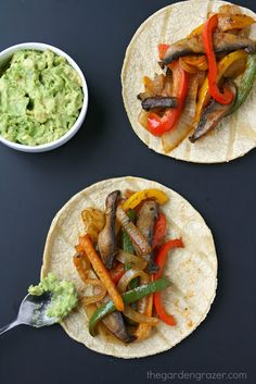 Portobello Fajitas Recipe and 24 more Vegan dinner recipes