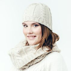 A beautiful cream set for colder days...chunky cable knit snood with matching beanie hat - soft & very cosy!  It's sure to be popular choice for Autumn / Winter and makes a great Christmas gift.  All scarves come wrapped in pretty pink tissue, sealed with an Annie's Closet label.