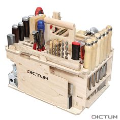 DICTUM Tool Carrier »Cabinet making, Interior Work«, Equipped, 43-Piece Set | Tool sets | Dictum Tool Shed Organizing, Tool Organization, Tool Storage, Carpentry Tools, Woodworking Projects, Festool Systainer, Portable Workbench, Wood Bed Design, Basic Hand Tools