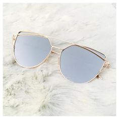 Silver On Gold Mirrored Sunglasses