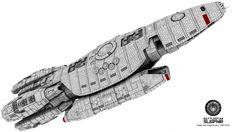 Re-imagined Battlestar Aegis from Battlestar Galactica 2004