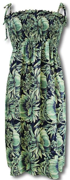 36dfe05b85 Abundant Blooms rayon Spaghetti strap sun dress. Black And NavyNavy Blue Hawaii OutfitsTropical OutfitAloha ...