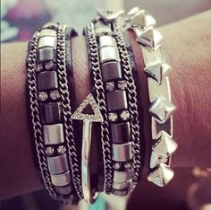 #cadywrap for an #armparty #stackedjewels