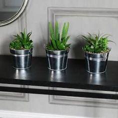 Superior Set Of 3 Artificial Cactus And Aloe Vera Plants In Tin Pots  #artificialplantsbathroom Artificial Cactus