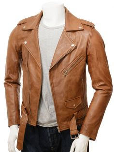 7093d0ba28d0b Men Tan Sheepskin Motorcycle Biker Jacket