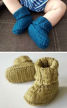 Free Knitting Pattern For Seamless Baby Slippers - kostenloses strickmuster für nahtlose babyschuhe - patron de tricot gratuit pour chaussons bébé sans couture Baby Booties Knitting Pattern, Knitted Booties, Knitted Slippers, Crochet Baby Booties, Knitting Socks, Knitting Stitches, Knitting Patterns Free, Free Knitting, Crochet Beanie