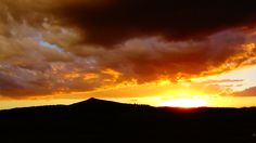 July 2014: A sunset west of our cabin near Cripple Creek, Colorado.