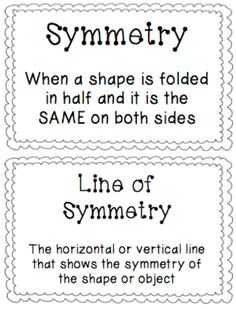 Symmetry Posters More Symmetry Math, Symmetry Activities, Math Activities, Math Classroom, Kindergarten Math, Classroom Ideas, Preschool, Math Lesson Plans, Math Lessons