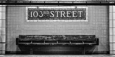 103rd Street Subway Station, 6 Train, New York City #cltphotography