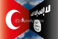 Turkye vs isis flag — Vettoriali Stock © frizio #54566771