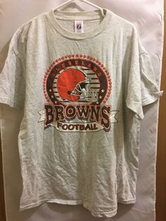 Logo 7 Men's Cleveland Browns Gray Short Sleeve T-Shirt Sz XL  #LOGO7 #GraphicTee