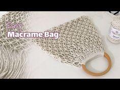 Macrame Purse, Macrame Knots, Macrame Patterns, Crochet Patterns, Rope Crafts, Simple Bags, Diy Gift Box, Macrame Design, Macrame Projects