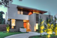 """Houston-based Architectural firm StudioMET has designed the Holly House project. This 5,560 square foot home marries mid-century lines with a contemporary point of view. It is located in Houston, Texas, USA. Spring Valley House by StudioMET: """"Located on a quiet street, the Holly House shows a restrained façade that opens into a double height living space with clerestory windows, a music room and open kitchen/dining area. To complement the interior.."""