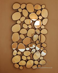 Large Rectangular Deco 'Pebbles' Venetian Wall Mirror with Gold Frame Edging £445