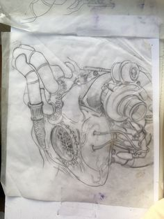 A biomec turbo heart design I been working on for a while just waiting for the right customer