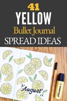41+ Yellow Bullet Journal Spread Ideas - Yellow bullet journal inspiration that will brighten your days! Since I was a kid, I have always associated yellow with happiness. It is one of my favorite colors to add to my bullet journal since just looking at it can brighten my mood.