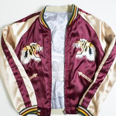 Japanese Vintage Tailor TOYO USA Japan Okinawa Marines Tora TIGER Eagle Souvenir Embroidered Sukajan Jacket - Japan Lover Me Store