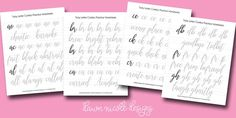 Tricky Letter Combo Practice Sheets: Set 1 of reader-requested letter combos!